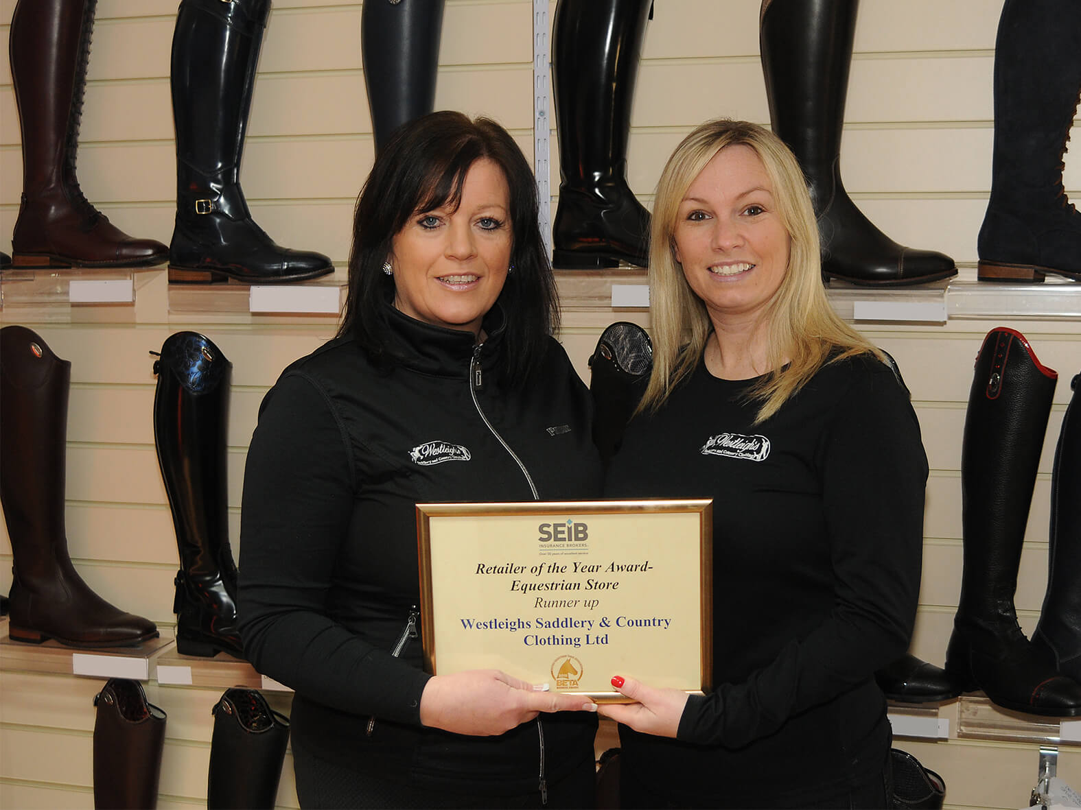 Westleighs Saddlery and Country Clothing retailer of the year