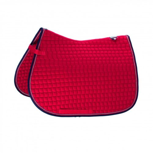 eskadron-cotton-saddle-pad-red/navy-binding