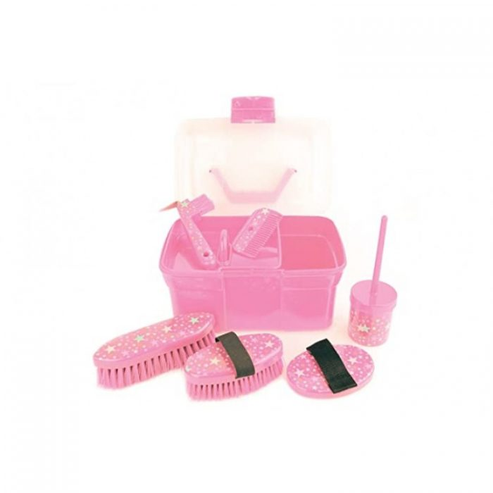 Lincoln Grooming Kit Pink Stars