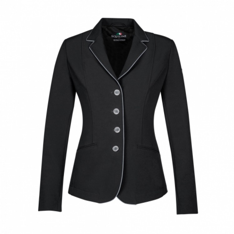 Equiline Christine Ladies Competition Jacket Black/Grey