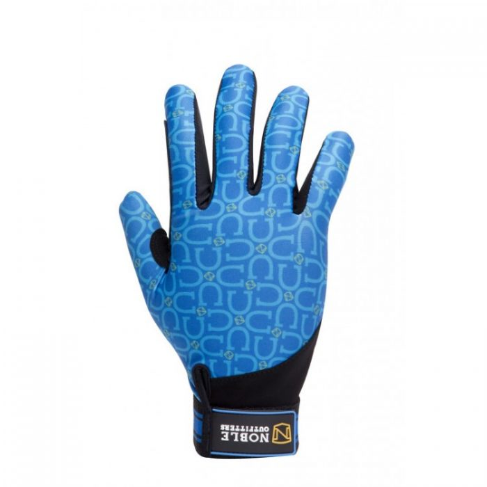 Noble Perfect Fit Glove Tahoe Blue Horseshoe